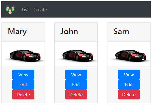 bootstrap 4 space between buttons