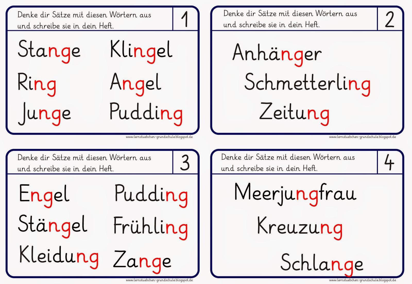 Ziemlich Ng Worte Arbeitsblatt Zeitgenössisch - Super Lehrer ...