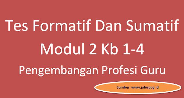 Soal Tes Formatif Dan Sumatif Modul 2 Kb 1-4 Pengembangan Profesi Guru