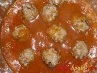 Mix added to the meatballs