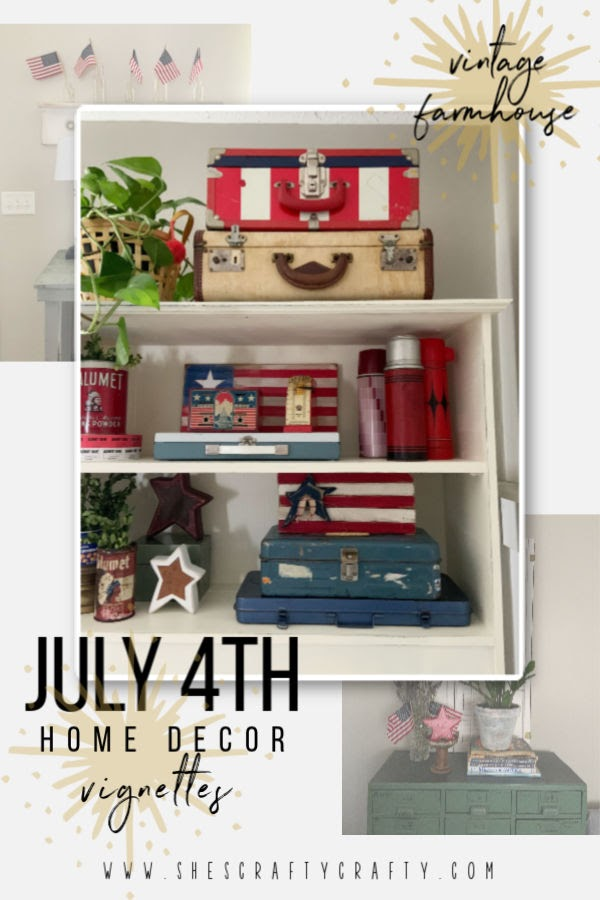 Vintage Farmhouse 4th of July Home Decor