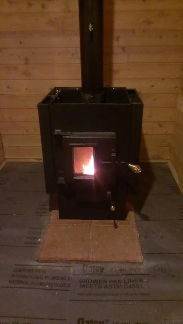 First firing of our Kuuma sauna wood burning stove.