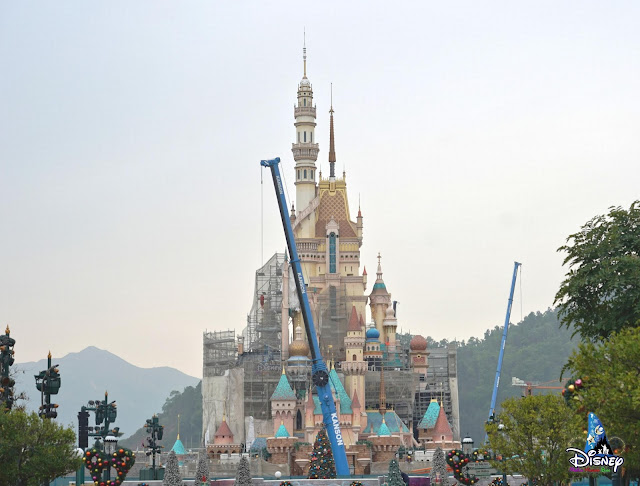 Disney, HKDL, Hong Kong Disneyland, 迪士尼, 香港迪士尼樂園, WDI, Walt Disney Imagineering, 華特迪士尼幻想工程, 奇妙夢想城堡, Castle of Magical Dreams, HKDL Castle, Construction Update