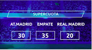 Mondobets supercuota Atletico vs Real Madrid 7-3-2021