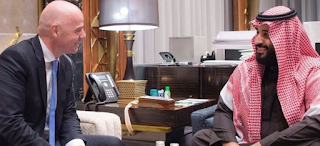 Progress-of- the- Saudi -Arabian- Football -, FIFA- President-Gianni- Infantino -met -Prince