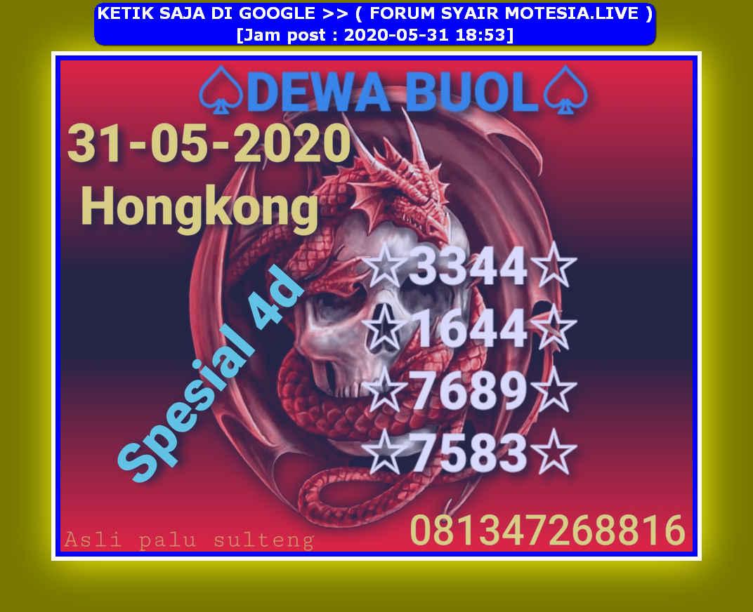 Kode syair Hongkong Minggu 31 Mei 2020 30