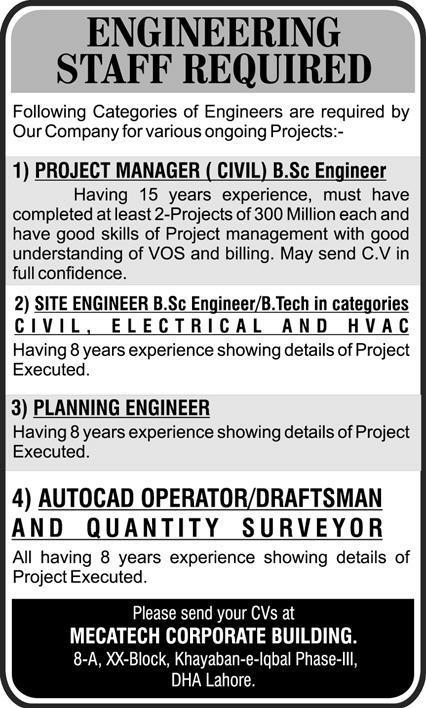 MECATECH Corporate Building Lahore Jobs