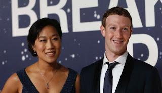 Mark Zuckerberg dan istri Hello Lelaki