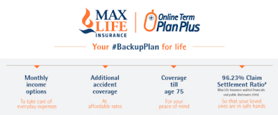 Max Life Online Term Plan Plus Full Review -Techzost blog