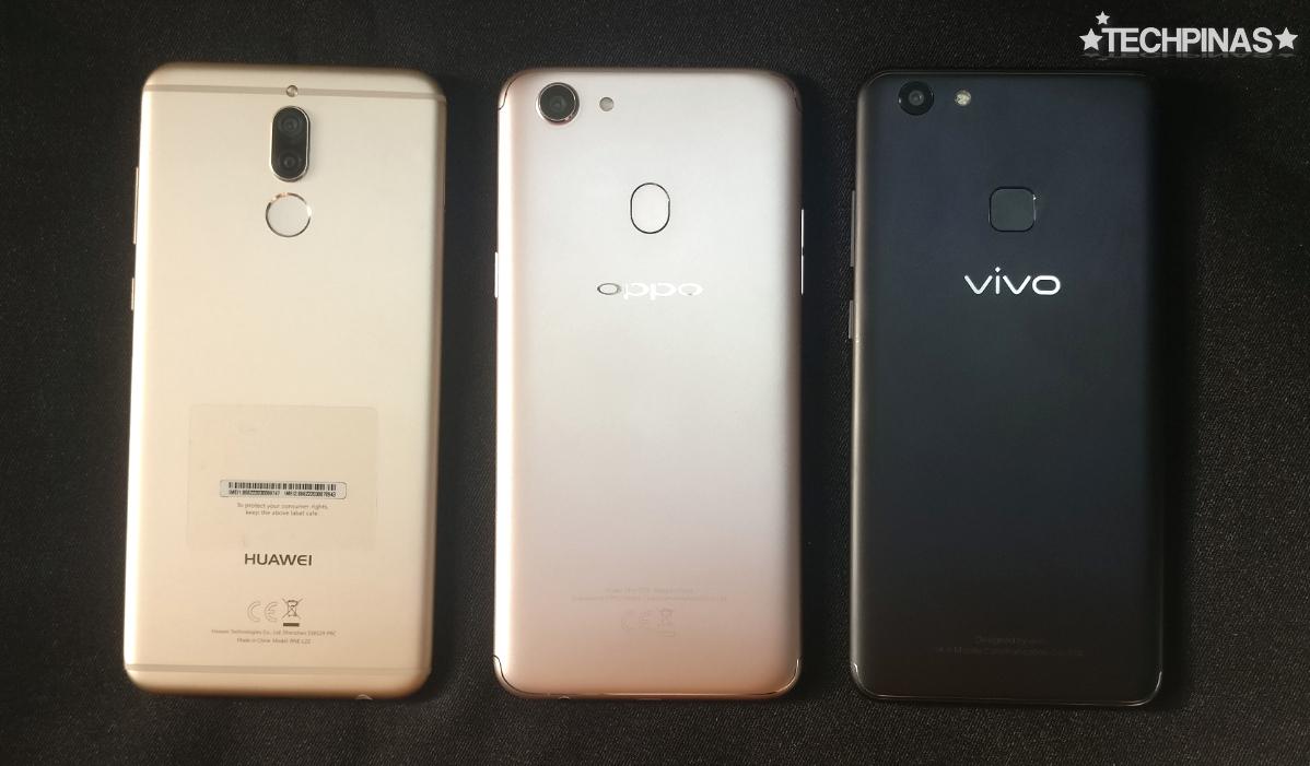 Huawei Nova 2i vs OPPO F5 vs Vivo V7+