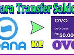 Cara Transfer atau Kirim Saldo DANA ke OVO