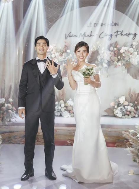 Tiết lộ giá khủng của cặp nhẫn đính hôn của Công Phượng - Viên Minh