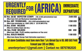 Oil And Gas Jobs In Africa
