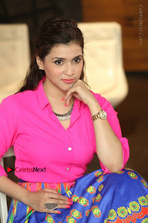 Actress Mannar Chopra in Pink Top and Blue Skirt at Rogue movie Interview  0200.JPG
