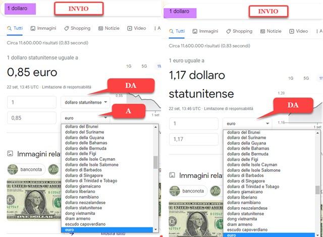 conversione valute in chrome