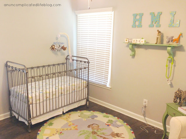 Jungle themed baby boy nursery