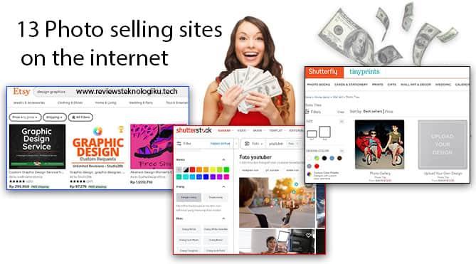 cara jual foto di internet