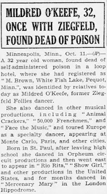 Mildred O'Keefe Suicide