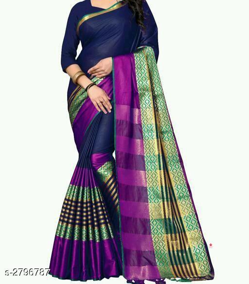 *Tanya Adorable Cotton Silk Women's Sarees*