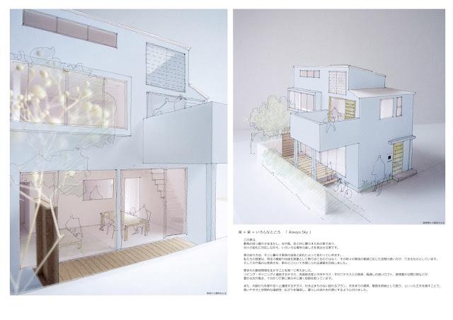 光や風、空と共に暮らす都市型狭小住宅 外観イメージ
