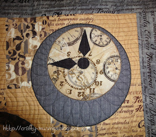 Watch the Clocks, another detail of quilting