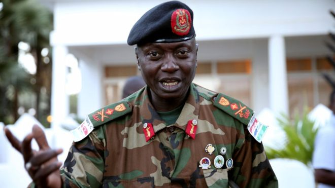 Gambian army chief pledges allegiance to defeated president