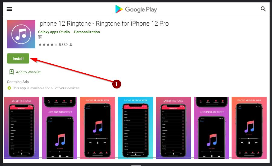 aplikasi ringtone 12 pro di android