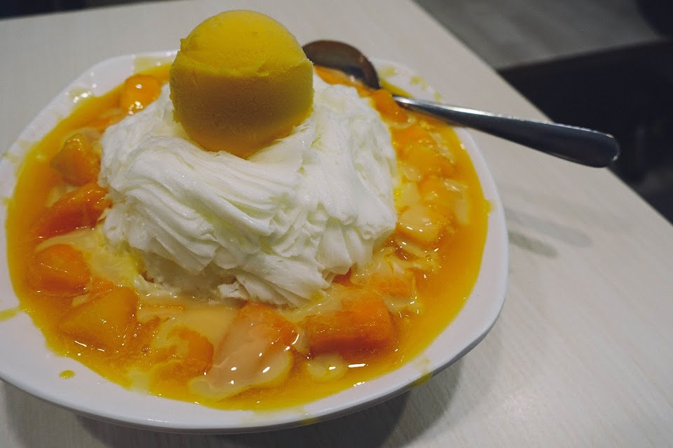 新鮮芒果雪花氷(Fresh Mango Snow Ice With Sorbet)