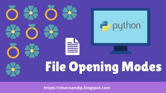 Files Opening Modes in Python File Handling