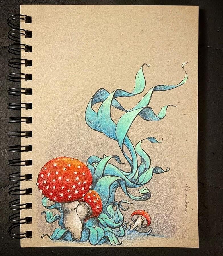 09-Mushrooms-and-ribbons-Leandro-Felix-www-designstack-co