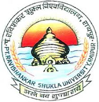 PT.Ravishankar Shukla University Recruitment 2016
