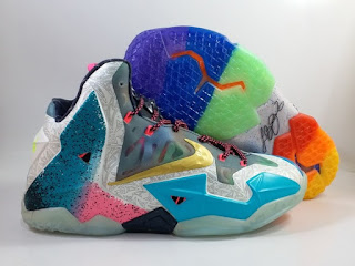 Nike LeBron 11 WHAT THE Blue White Orange Green   Jual Sepatu Basket Replika Import Premium
