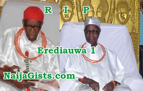 oba benin kingdom dies stroke
