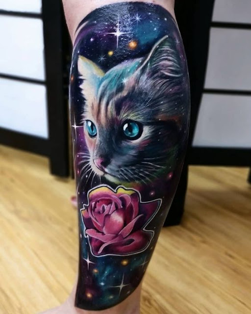 cat tattoo hyper realist