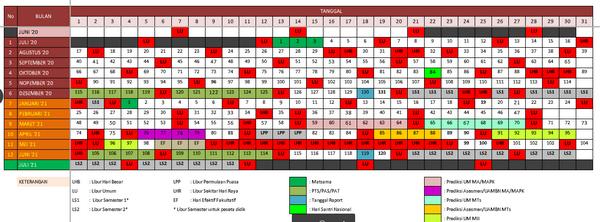 Kalender Pendidikan Tahun 2020-2021