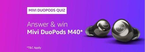 Amazon Mivi DouPods M40 Quiz Answers