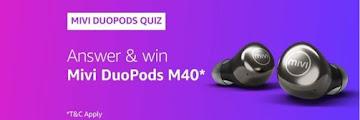 Amazon Mivi DouPods Quiz Answers - Win Mivi DouPods M40