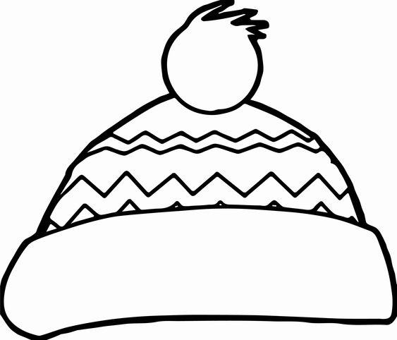 Tranh tô màu mũ len họa tiết