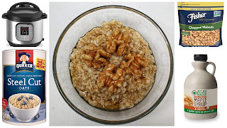 How to pressure cook steel cut oats in an Instant Pot.