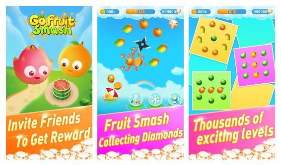 GO Fruit Smash - Desafie a si mesmo e ganhe recompensas
