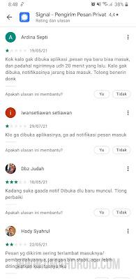Notifikasi Signal Messenger Android