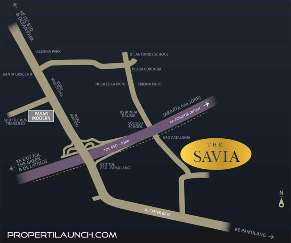 Peta Lokasi Savia BSD