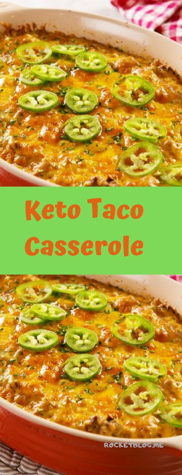 Keto Taco Casserole #TACOS #CASSEROLE #KETO #KETORECIPES