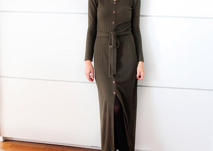 como-hacer-vestido-largo-punto-con-botones-y-lazo-cintura