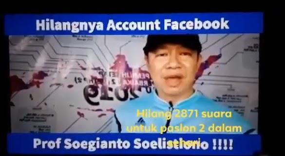 Temukan 57 Ribu Kesalahan Situng KPU, Akun Facebook Pakar IT Unair Dr. Soegianto Soelistiono Dibanned