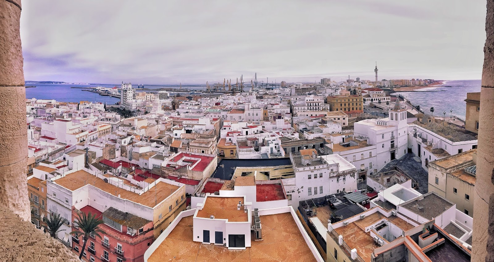 Cadiz from above