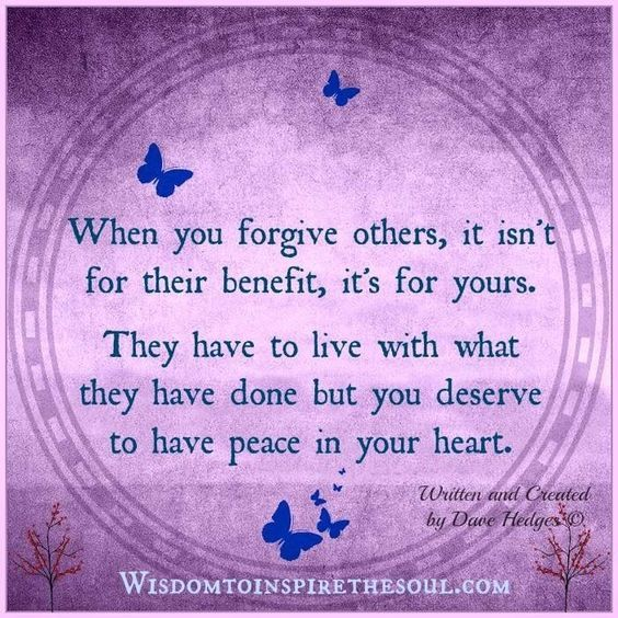 Forgive Yourself And Others Too.