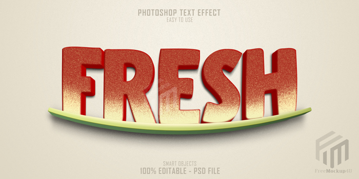 Fresh Text Style Effect Template Psd