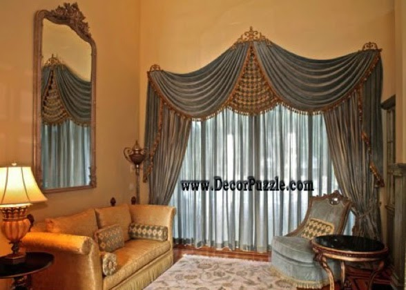 top 20 luxury classic curtains and drapes designs 2018. Black Bedroom Furniture Sets. Home Design Ideas