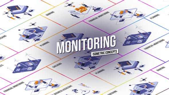 Monitoring - Isometric Concept[Videohive][After Effects][28986926]